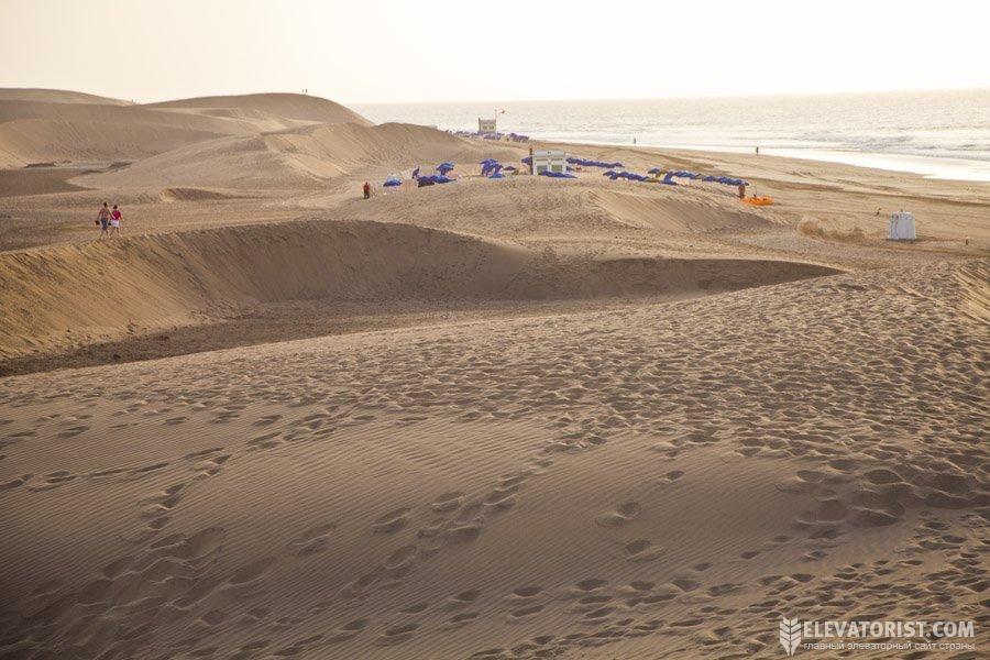 Дюны (Dunas de Maspalomas) настоящая «жемчужина» острова Гран-Канария