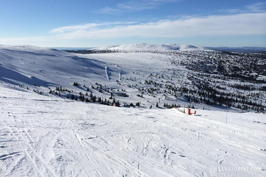 Трюсиль — самый крупный и посещаемый горнолыжный курорт в Норвегии
