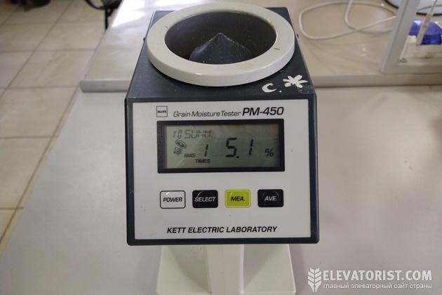 Экспресс-анализатор зерна для определения влажности