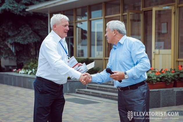 Глава наблюдательного совета Лубнымаш Владимир Кудрик и мэр города Лубны