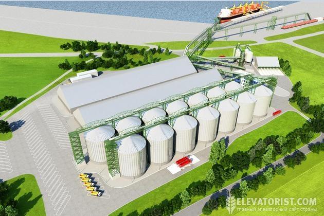 Макет зернового терминала