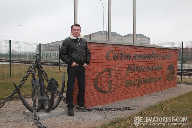 Руководитель коммерческого отдела «Гермес-Трейдинг» Михаил Егоров и незабываемый якорь