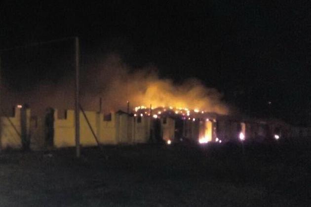 Пожар на элеваторе