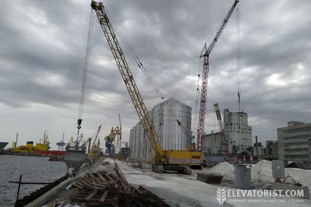 Строительство терминала в Мариупольском МТП
