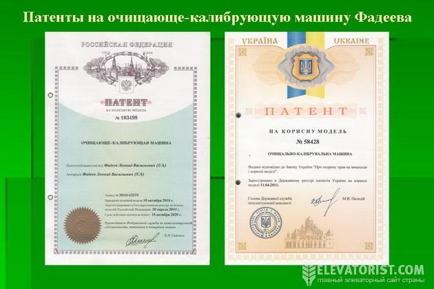 Патенты Фадеева
