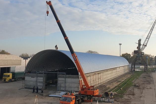 Процесс постройки нового склада