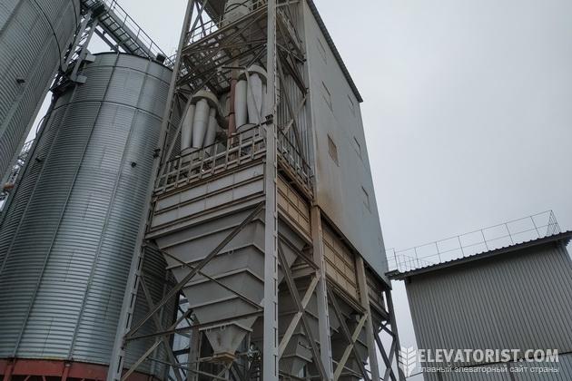 Зашитая рабочая башня, в которой стоят очистные машины
