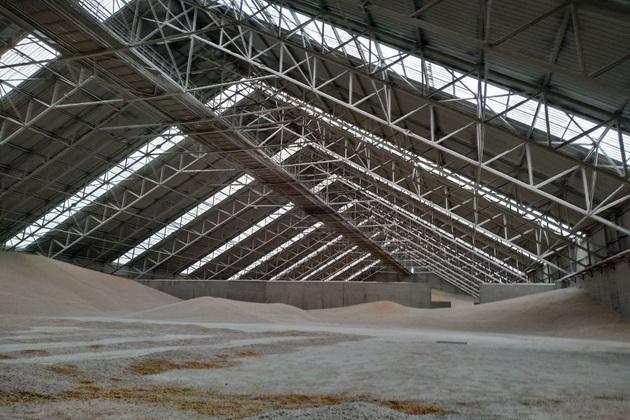Зерно на складе порта