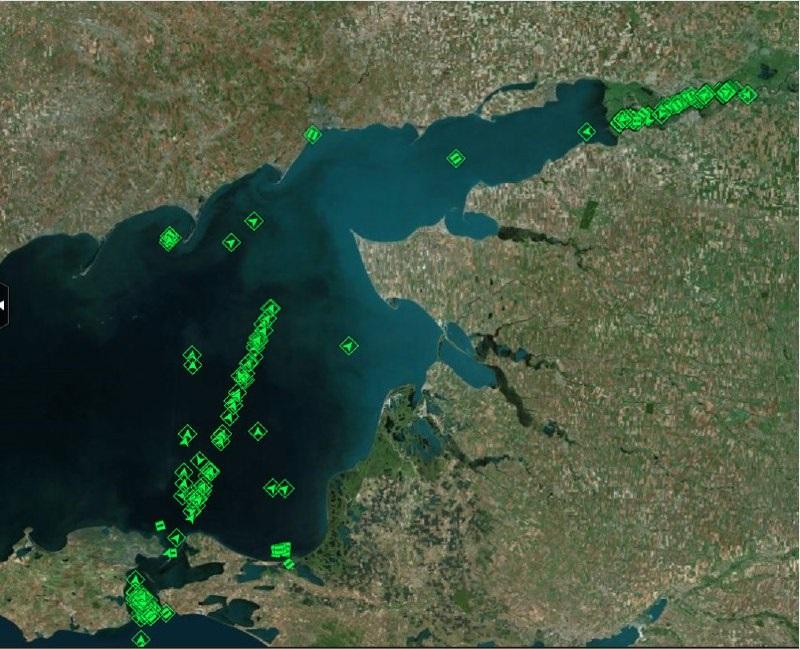 Скопление судов в Азовском море, 27 ноября 2019 год
