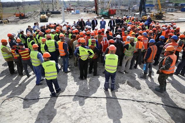 Рабочая встреча со строителями