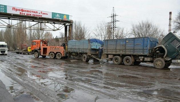 Авария в Николаеве с участием зерновоза