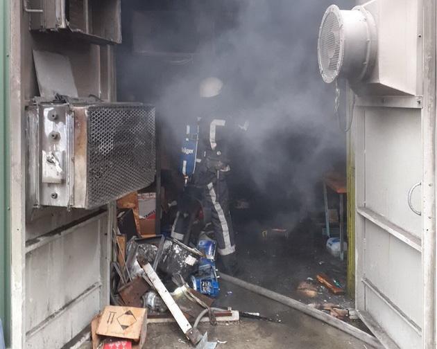 Возгорание произошло в компрессорной