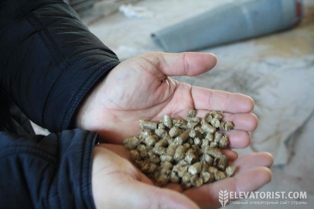 Пеллеты с отходами зернового производства
