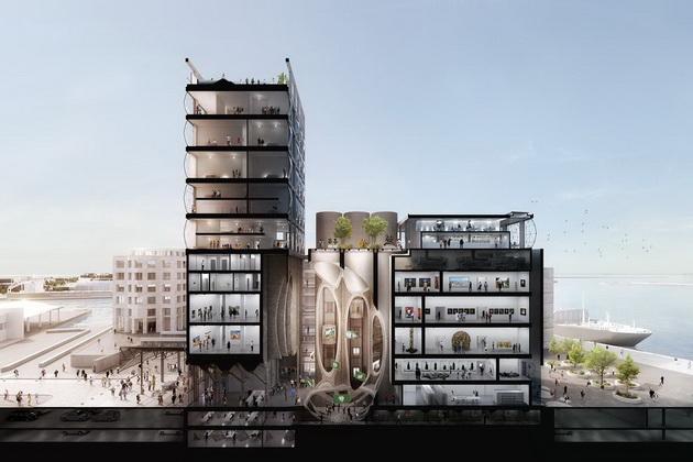 Проект отеля и музея в элеваторе