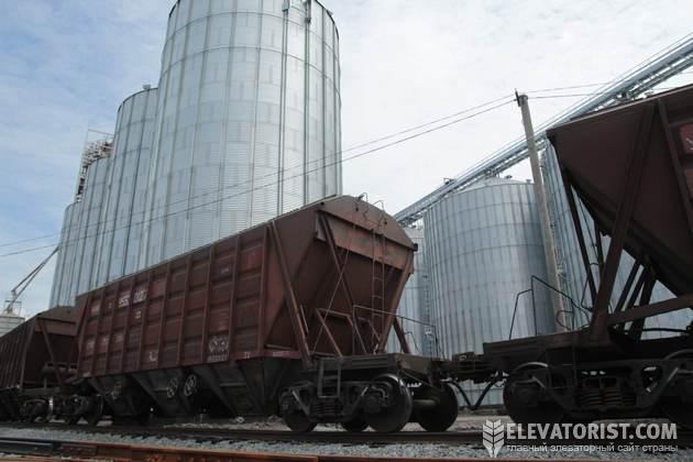 Отгрузка зерна в вагоны